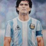 Diego Armando Maradona – figurative Oil Painting